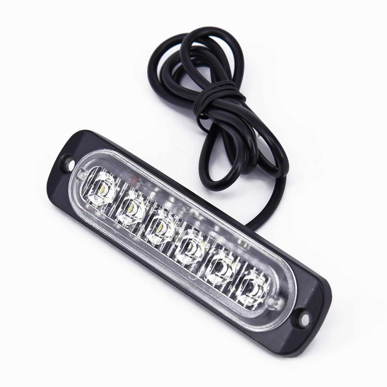 Car Light Assembly Led Fog Lights Off Road 6LED DRL Daytime Running Headlight Flash Light White Universal Work Light Bar