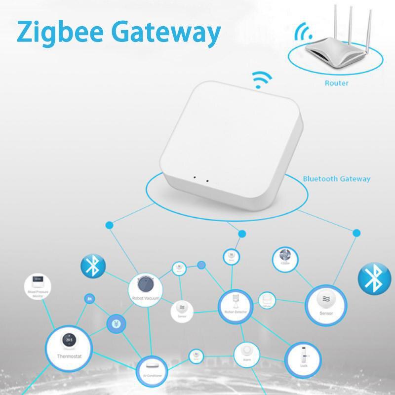 تويا زيجبي جسر المنزل الذكي زيجبي بوابة محور التحكم عن بعد زيجبي الأجهزة عبر الحياة الذكية APP يعمل مع اليكسا