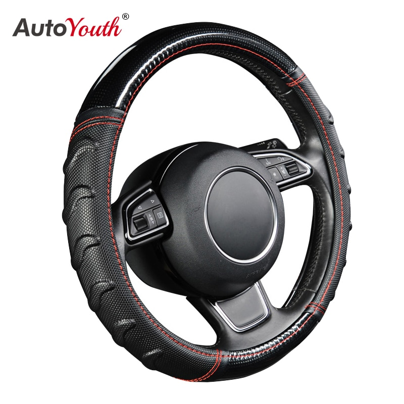AUTOYOUTH Willow узорный массажный чехол рулевого колеса автомобиля футбольный рисунок комбинированный светильник из кожи универсальный подходит для большинства автомобилей Стайлинг