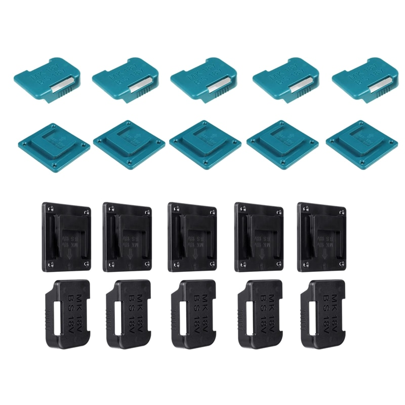 5 قطعة بطارية أداة الطاقة جبل حامل ل 14.4/18 فولت بطارية وآلة تخزين حامل أرفف فتحات البطارية