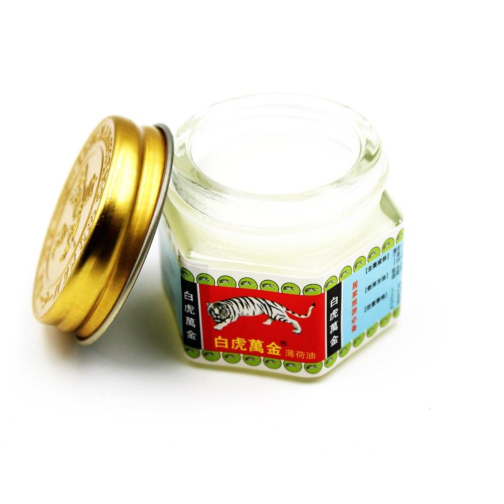 Купить с кэшбэком 15g/box White Tiger Balm Pain Relief Plaster Ointment Insect Bites Extra Strength Arthritis Joint Pain Body Massage Oil Cream