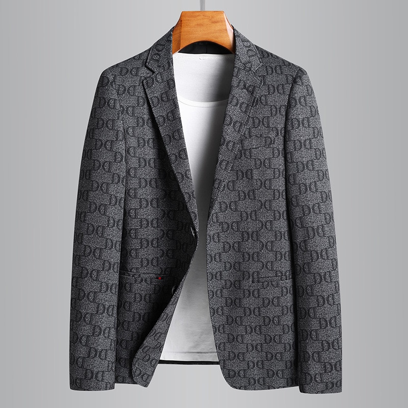 New Men Fashion Spring Autumn Coat Youth Casual Handsome Elastic Single Breasted Smart Casual Blazers Men Suits Plus Size M-4XL