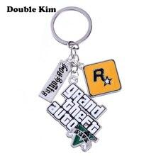 Grand porte-clés PS4 5 vol Auto, jeu dhommes, lettres volantes, Autob Rock Star, porte-clés avec boucle, cadeau