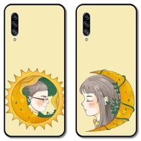 couple phone case for samsung galaxy a 12 51 52 21 71 70 42 32 10 80 90 e 5g s black shell art cell cover