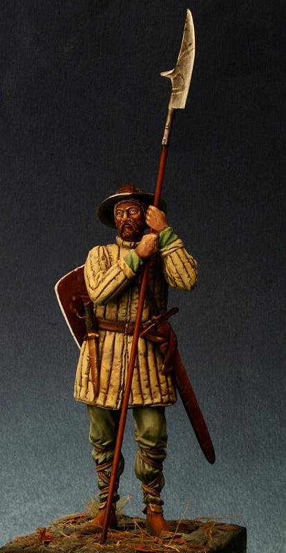 1/24 75mm guerrero antiguo stand con lanza figura de resina en miniatura kits miniatura gk Unassembly sin pintar