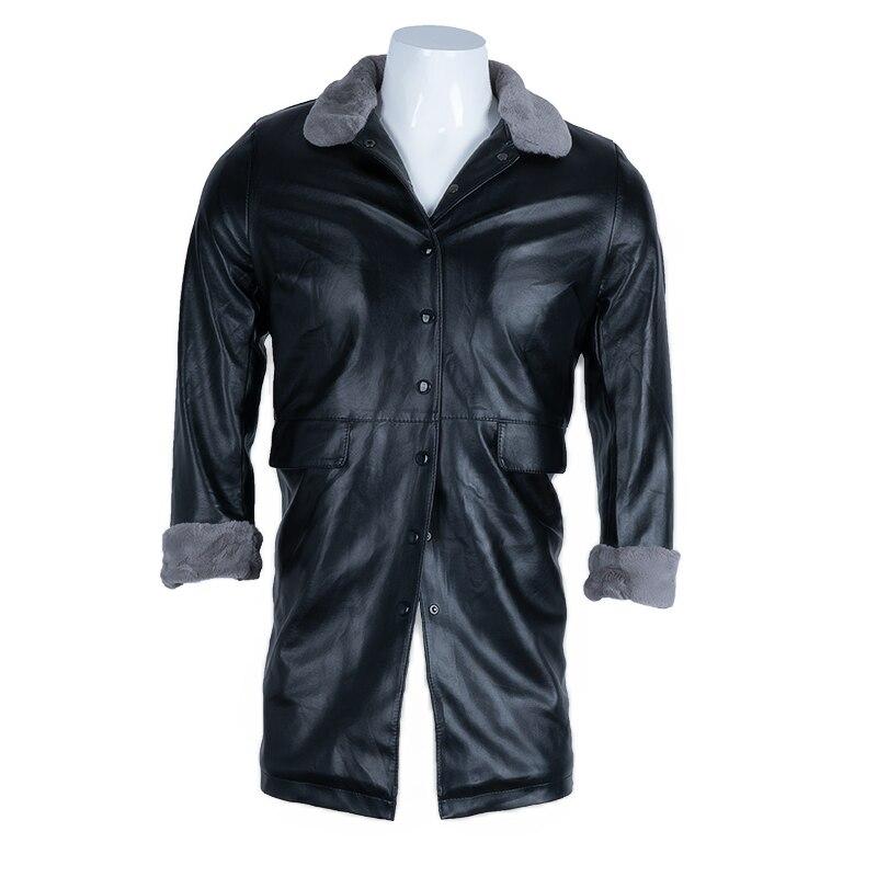 ChangNiu винтажные мужские кожаные куртки с длинным рукавом Искусственный мех внутри Осень Зима теплые ПУ кожаные куртки повседневная верхняя ...