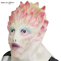 Flor demônio halloween máscara assustador fada dia das bruxas cocar rosa branco mostrar fantasiar-se barra engraçado e bonito presente de halloween