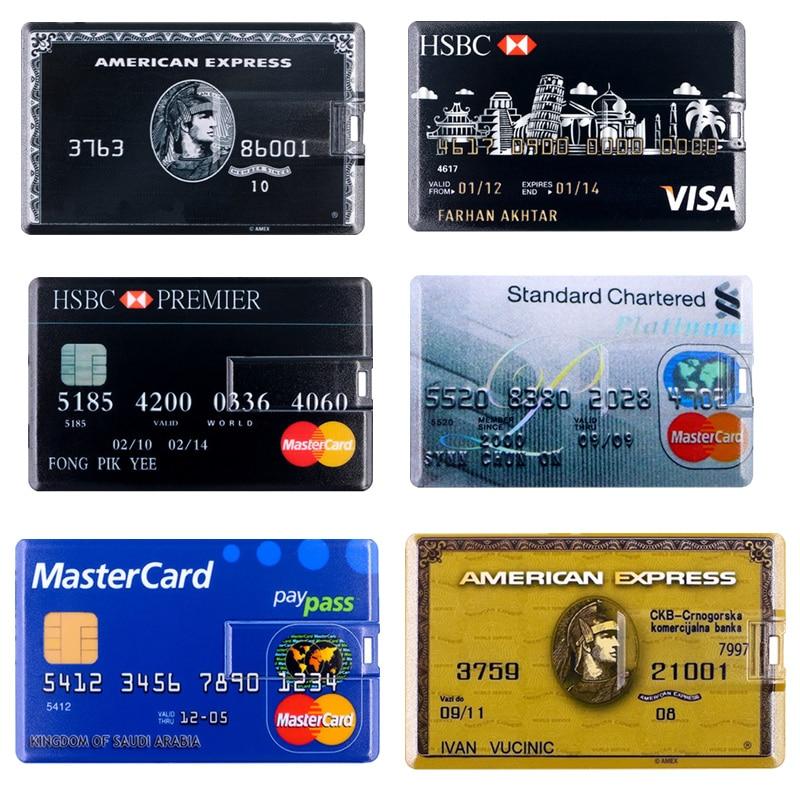 Usb Flash Drive Master HSBC Credit Card Flash Memory Card 512GB Pendrive Real Capacity Flash Stick 128G 256G Pen Drive Usb Stick
