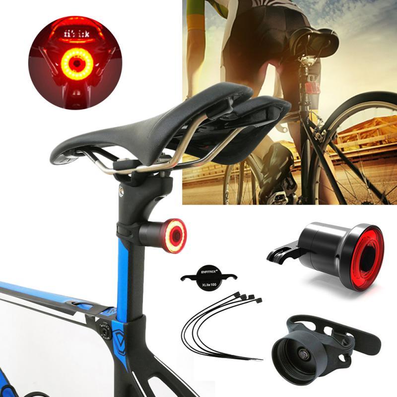 Luz de bicicleta XLITE Sensor inteligente luz de freno USB recargable LED luz trasera seguridad advertencia asiento de ciclismo tubo montado luz trasera