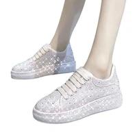 european station dad shoes 2021 new mcquebai rhinestone platform womens starry sky gradient full diamond platform shoes