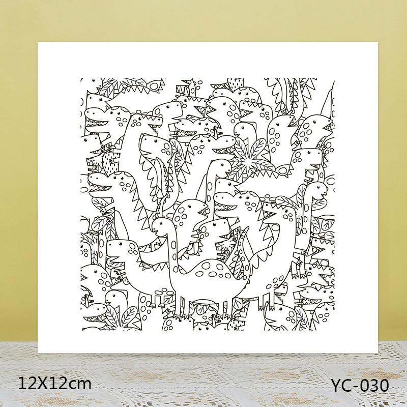 Sellos transparentes de dinosaurio fieroso AZSG para Scrapbooking DIY/fabricación de tarjetas/artesanía de sello de goma decorativa de álbum