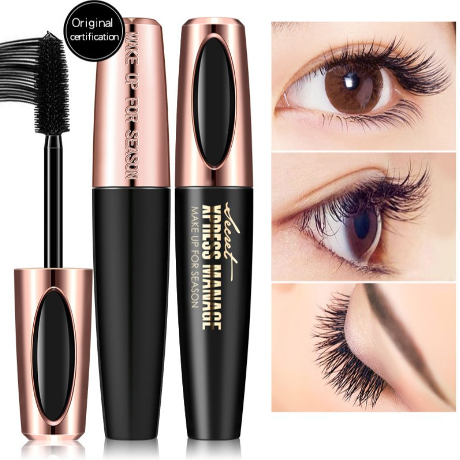 MACFEE 4d Volume Silk Fiber Mascara Waterproof Eyelashes Makeup Eyelash Growth Lengthens Cosmetics B
