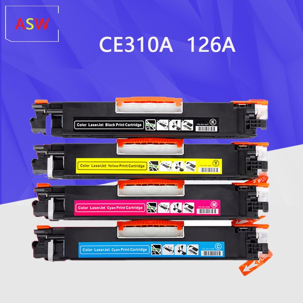 خرطوشة حبر ملونة متوافقة CE310 CE310A -313A 126A 126 متوافقة مع طابعة اتش بي ليزر جيت برو CP1025 M275 100 Color MFP M175a M175nw