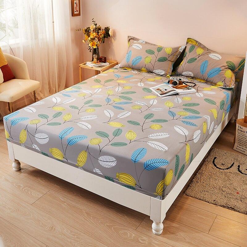 غطاء سرير من الملاءة المرنة مطبوع ناعم مفرش سرير التوأم الكامل مقاس 150x200 180X200 160X200 سم مخصص بدون غطاء وسادة