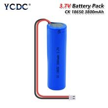 Wiederaufladbare 3,7 V 3800mAh 18650 Li-Ion Lithuim Batterie Mit XH-2P Stecker Ersatz Batterie + DIY Schnur Für RC Spielzeug auto LED Lampe