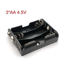 4.5V Alimentation 3 * aa Support De Batterie boîtier de rangement Avec 9V Positif et Négatif Boucle Pour 3 pièces Piles AA Noir