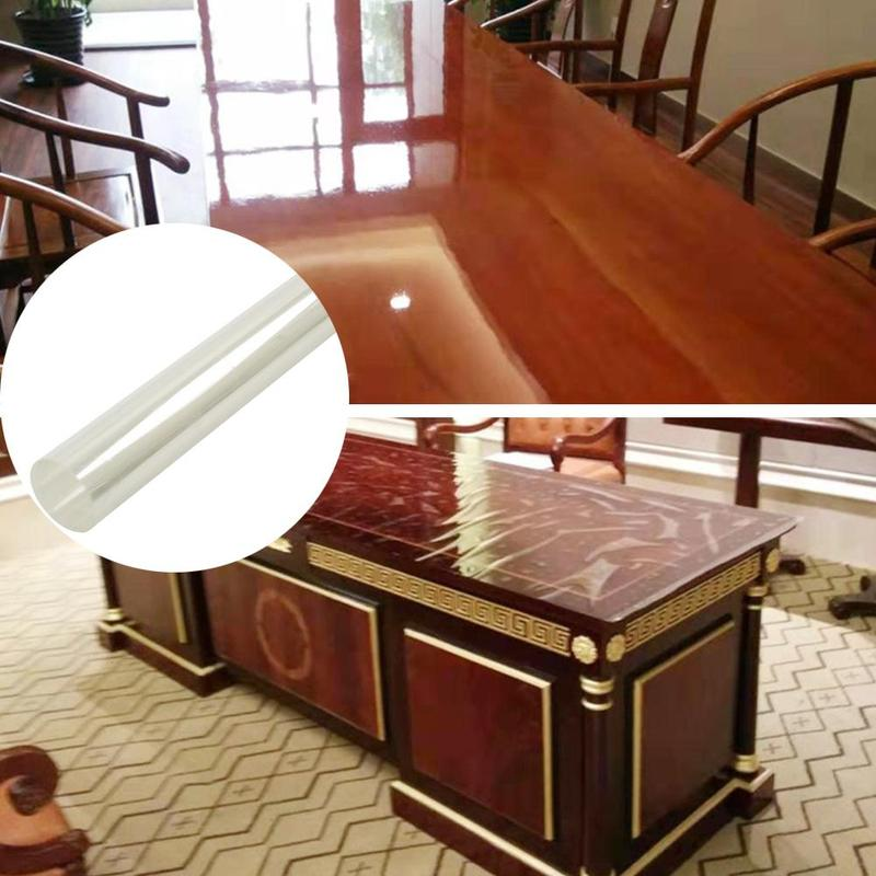 Autoadhesivo película transparente mármol madera de escritorio película protectora pegatinas de mesa para muebles