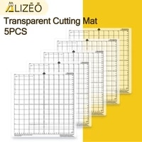 5 pcs replacement cutting board mat transparent adhesive mat pad with measuring grid 12inch for silhouette cameo plotter machine