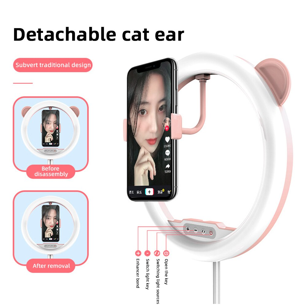 LED Ring Light Phone Selfie Flash Ringlight Photography Round Lamp Camera Photographic Lighting For Tiktok Live Video Streaming enlarge