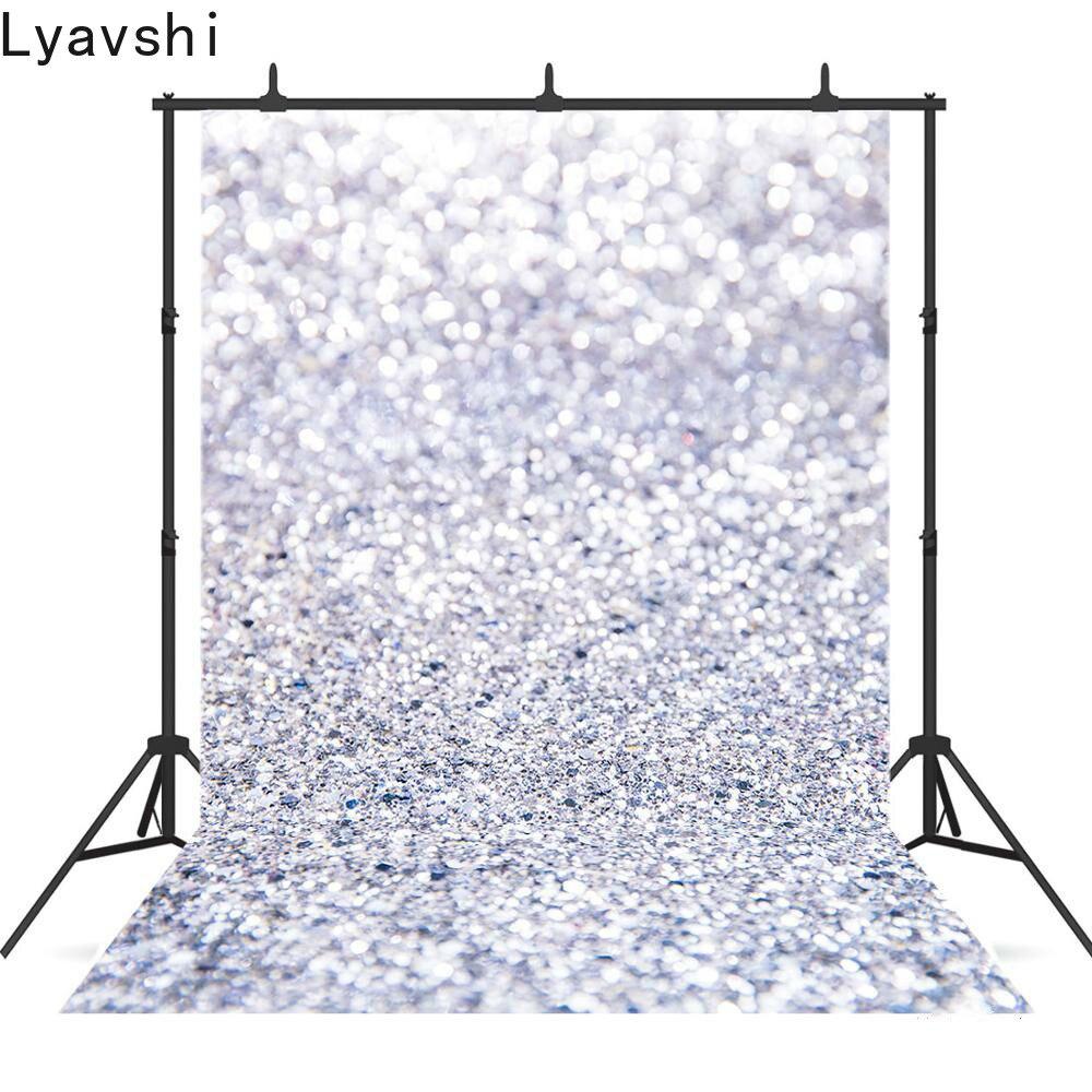 Lyavshi brilhante brilhante foto fundo fotografia adereços chuveiro do bebê baile de formatura festa fotografia fundo
