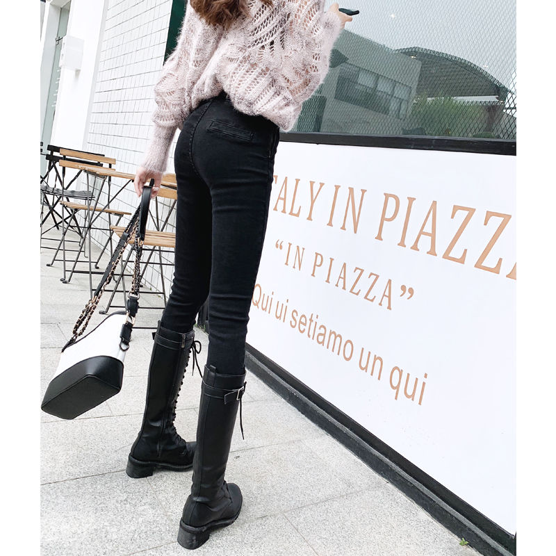 2020 spring summer autumn new women fashion casual Denim Pants woman female OL high waisted jeans Vq75  - buy with discount