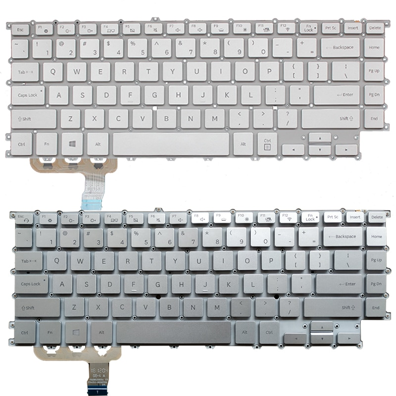 Teclado do Portátil para Samsung Teclado Branco – Prata us 900x5t Np900x5t Eua