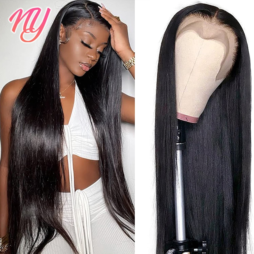 32 Inch Straight Lace Front Wig Cheap Virgin Human Hair Wigs For Women 13x4 4X4 Straight Closure Wig Thick Swiss Lace