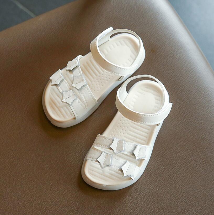 Kids Shoes 2021 Summer Baby Girls Fashion Princess Sandals Children Beige Pink Soft Flat Toddlers Br