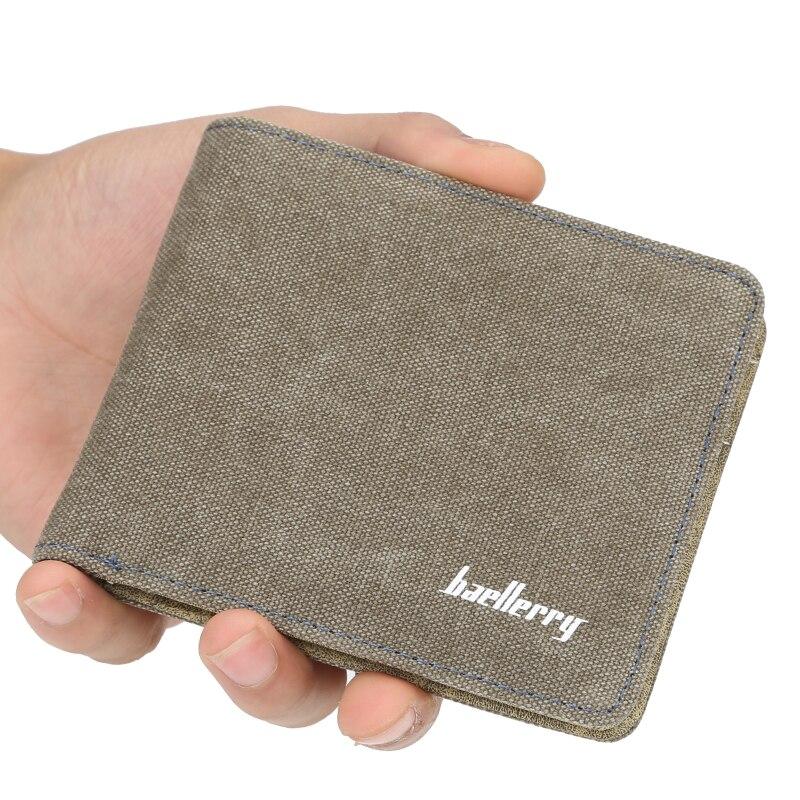 Carteira baellery masculina curta, porta-moedas, bolsa transversal, para jovens, carteira tendência carteira de lona