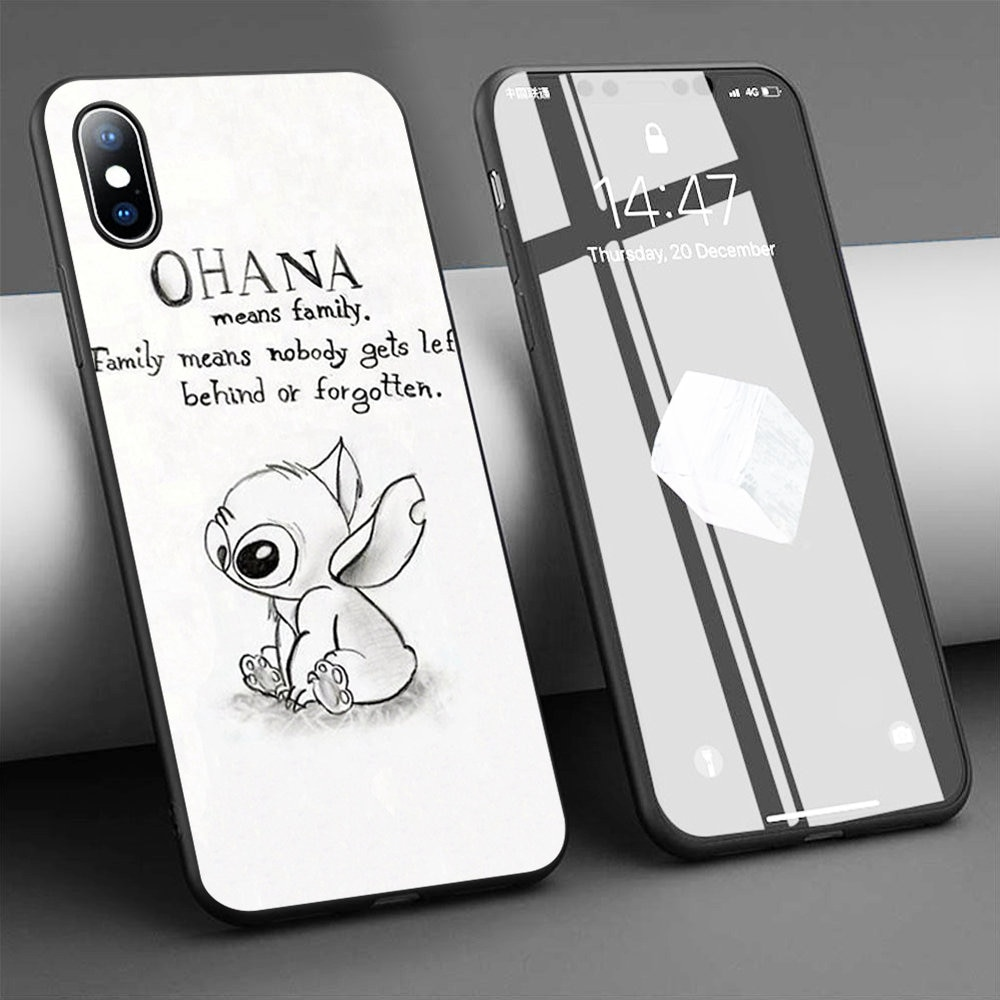Capa de celular lilo e stitch para iphone, capa macia de silicone para iphone 11 pro max x 5S 6 6s xr xs max 7 8 plus capa de telefone
