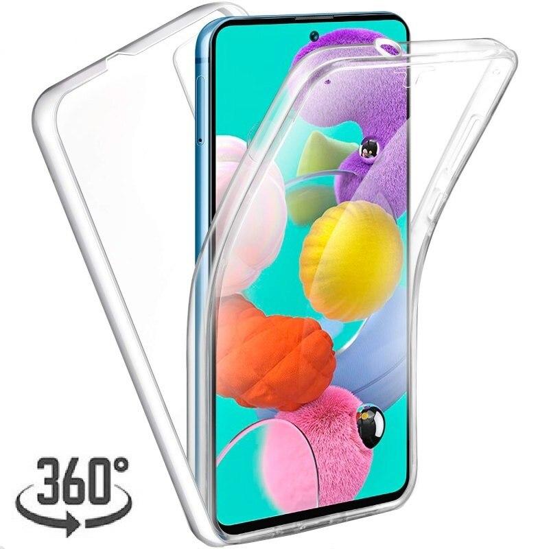 360 Funda doble de silicona para IPhone SE 2020 11 Pro XR XS MAX 6S 7 8 Plus protección de cuerpo completo claro a prueba de golpes Funda