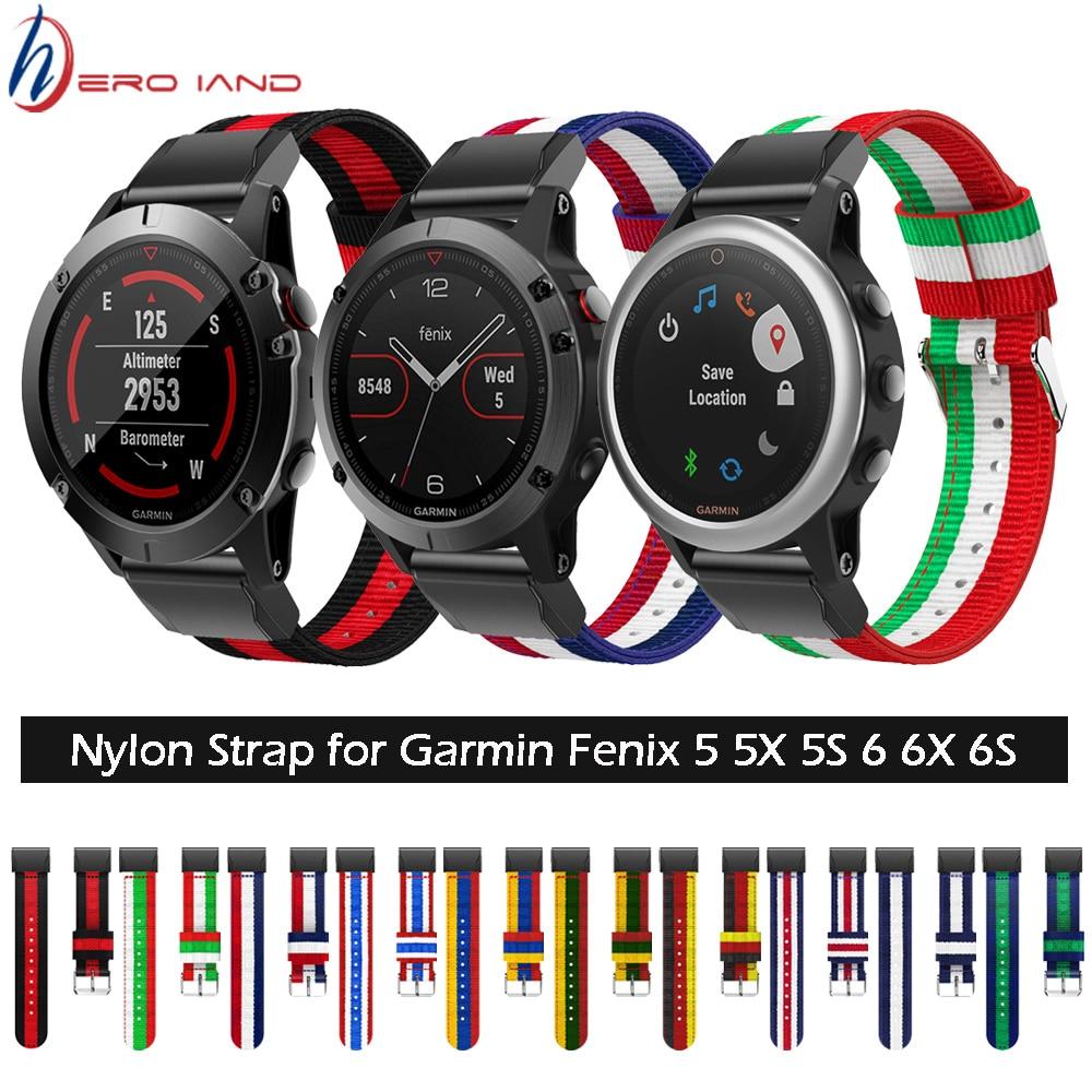20/22/26 Mm Nylon Horlogeband Strap Voor Garmin Fenix 5 5X 5 S Plus 6 6 S 6x /3 Hr/Forerunner 945 Smart Armband Gemakkelijk Fit Band Correa