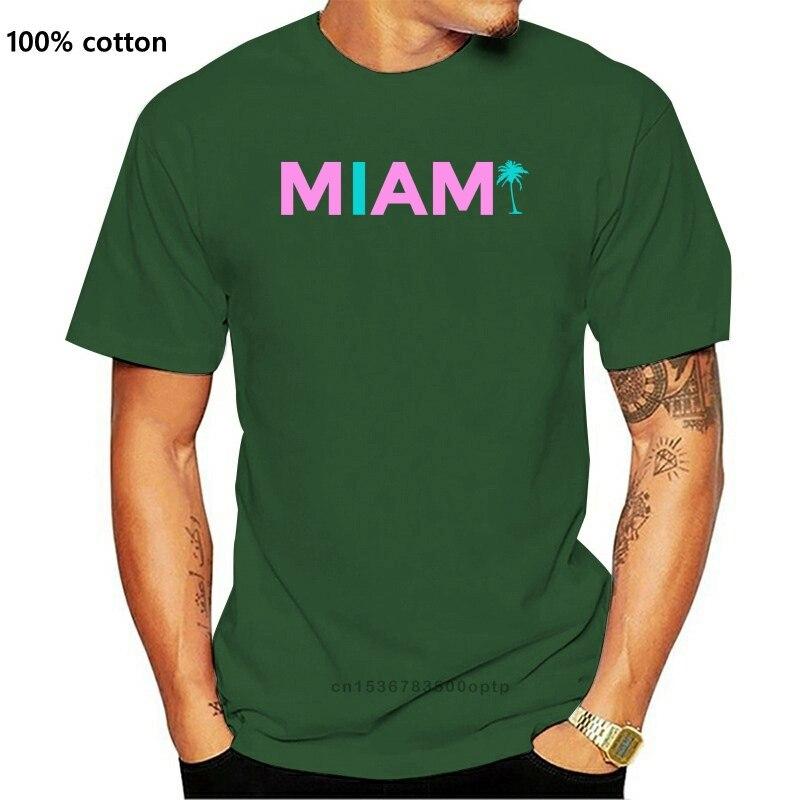 Camiseta informal a la moda para hombre, camiseta de Miami para hombre,...