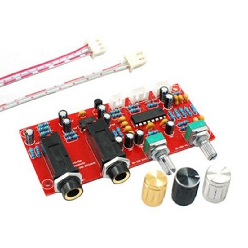 Placa de Amplificador de Microfone Placa de Karaoke Pré-amplificador Reverberation Echo Board Pt2399 Ne5532