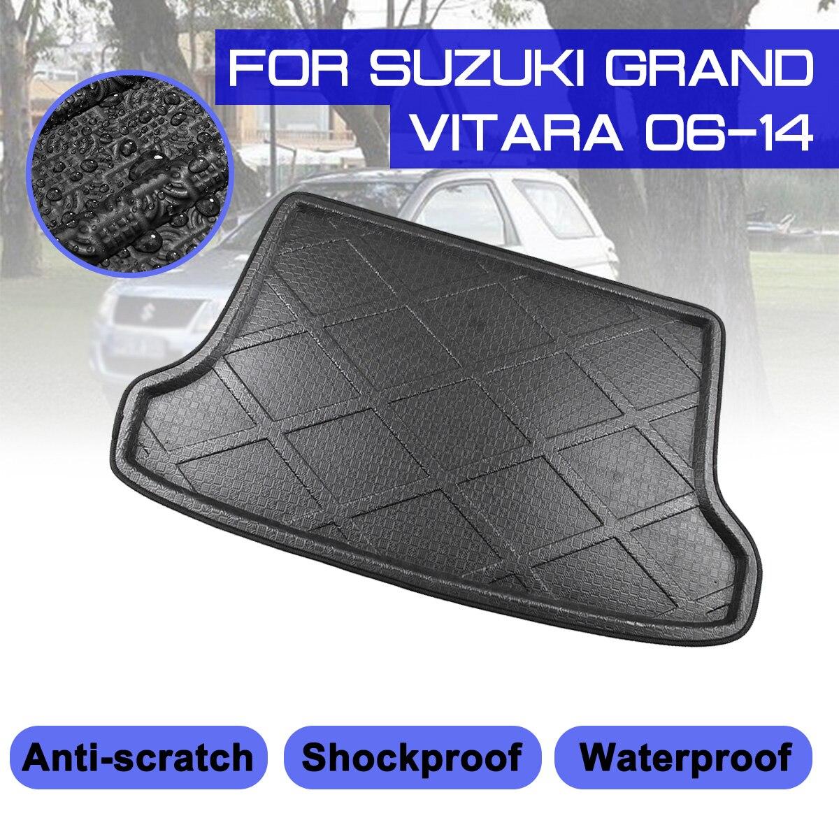 For Suzuki Grand Vitara 2006 2007 2008-2014 Car Rear Trunk Boot Mat Waterproof Floor Mats Carpet Anti Mud Tray Cargo Liner