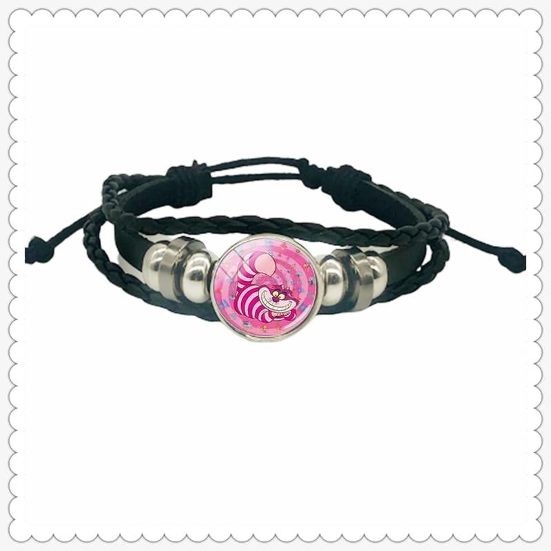Cartoon princess girl and little boy pattern leather bracelet classic fashion men and women bracelet gift jewelry