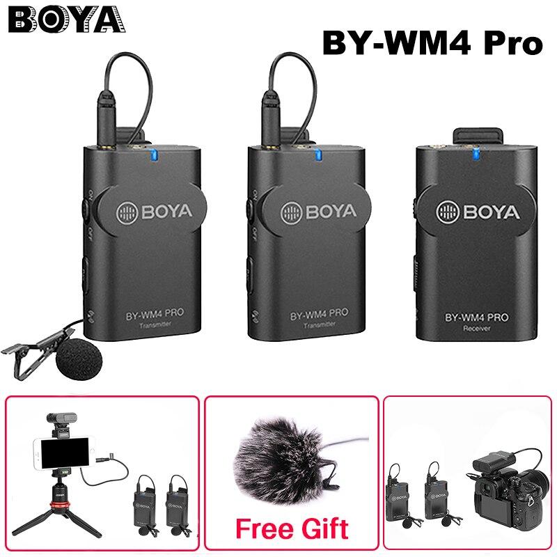 Promo Boya BY-WM4 Mark II/BY-WM4 Pro Wireless Studio  Microphone Lavalier Lapel Interview Mic for iPhone DSLR Camera Mixer Board