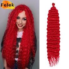 Extensiones de cabello trenzado Afro para mujer, pelo sintético Natural de ganchillo con ondas profundas, trenza ombré, baja temperatura