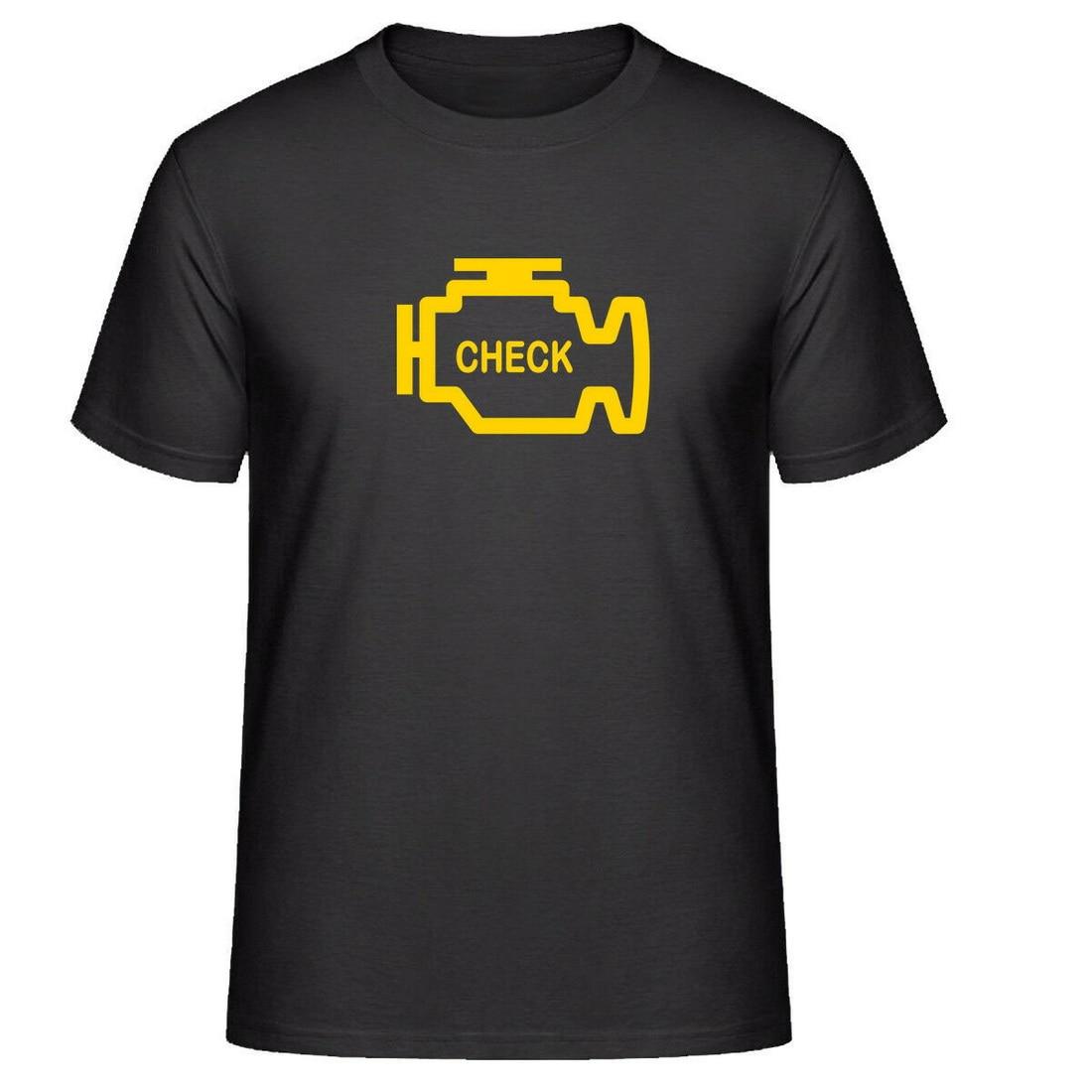 Motor de verificación de coche (ECU Scan) bombilla indicadora Tee Tops camiseta para hombres y niños camiseta colorida de cuello redondo
