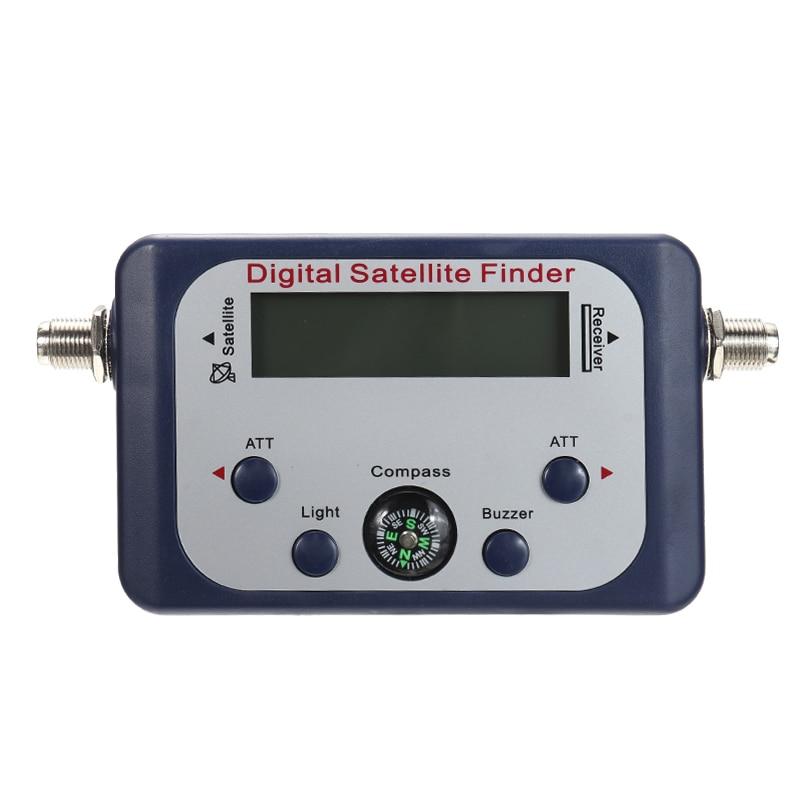 Digital LCD Satellite Finder 950~2150Mhz Meter Sky Dish Freesat Strength Signal Satfinder TV Receiver Accessories