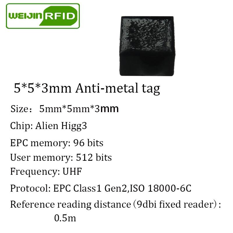 uhf rfid anti-metal tag ISO18000 6c passive tags anti on metal VIKITEK EPC C1G2 915m 900 868 902-928MHZ alien impinj NXP RF chip