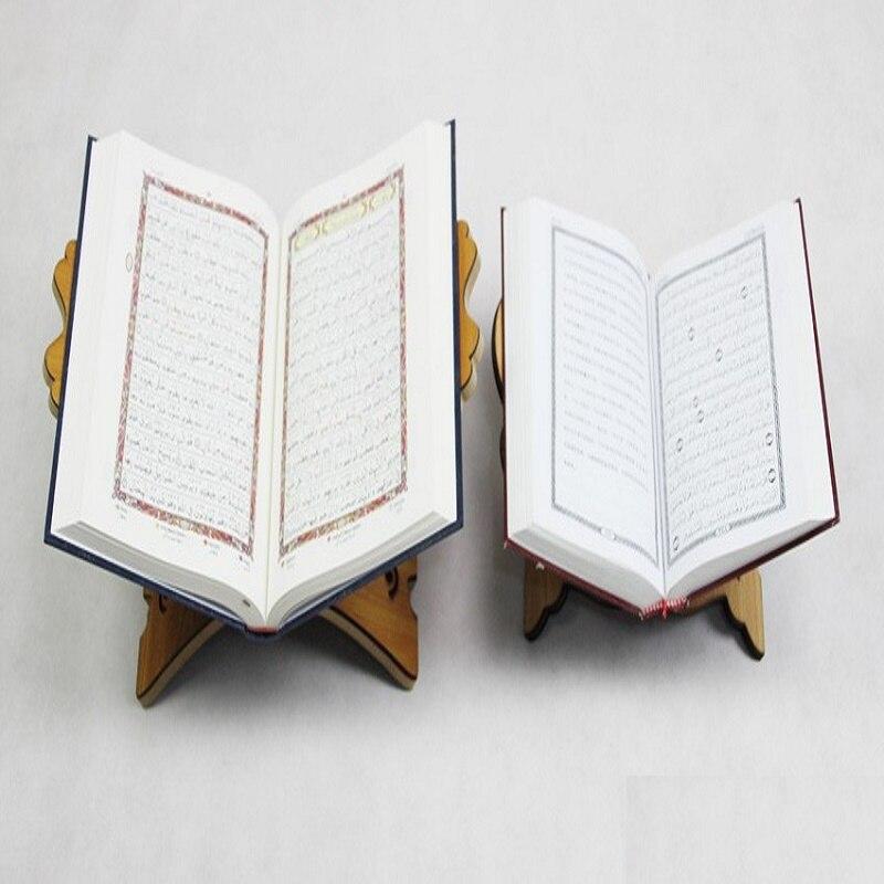 De Madera hueco libros soportes de escritorio Kuran Corán leyendo está Eid Al-Fitr islámico estante para libros de estudio Rack de almacenamiento