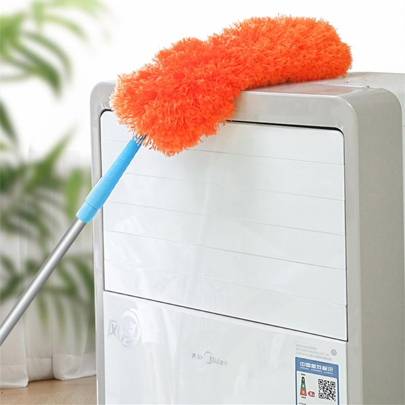 Plumero de plumas Flexible cepillo de microfibra suave plumero de plumas pelo de piel de limpieza del hogar telescópico Handhold ropa tenedor