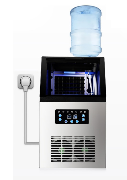 110V 60KG 70KG 80KG Ice Maker commercial cube ice machine automatic /home ice machine / for bar / coffee shop / tea shop