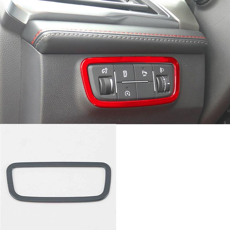 Lsrtw2017 for Changan Cs75 Car Headlight Switch Frame Trims Chrome Interior Accessories 2018 2019 2020 Carbon Fiber