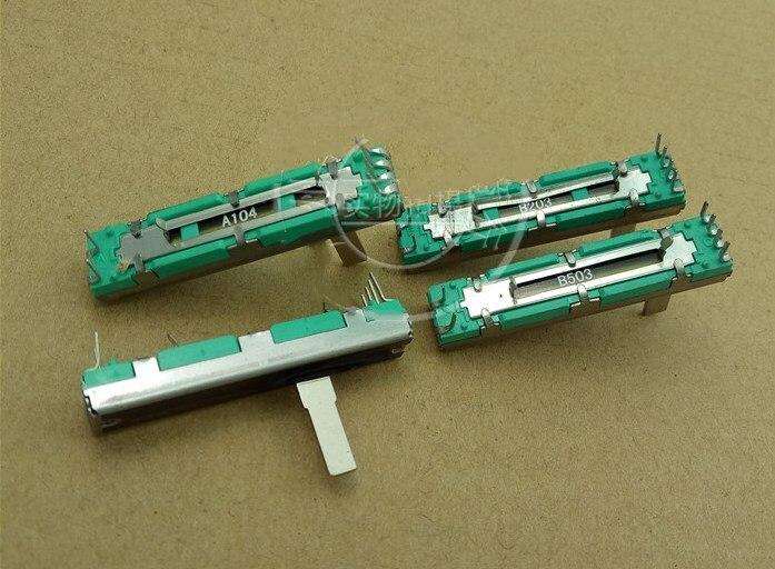 45 мм потенциометр B10K B20K B50K B100K оригинальный потенциометр звукомикшер B10K 45 мм B10KX2 B20K * 2 B50K * 2
