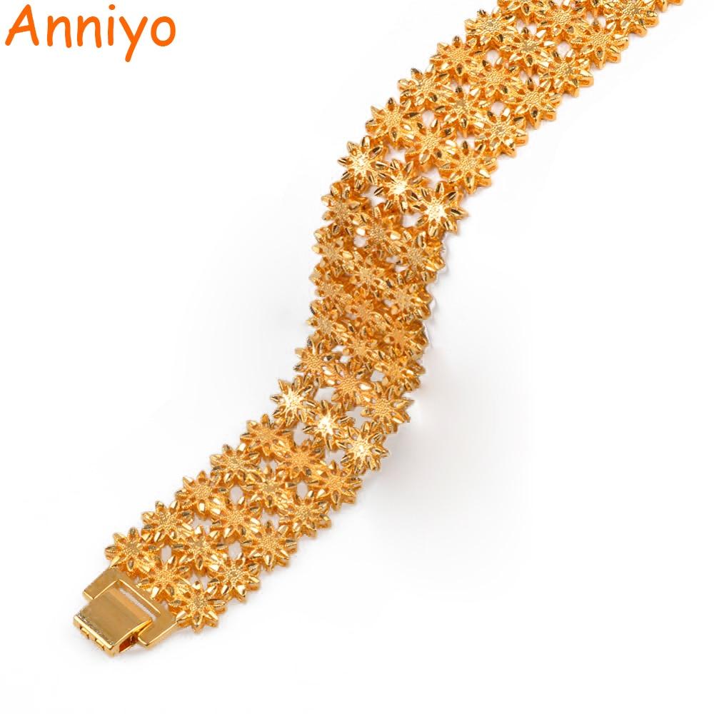 AliExpress - Anniyo 21cm / Width Bracelet for Women Men Gold Color & Copper Ethiopian Jewelry African Bangle Arab Wedding Gifts #072506