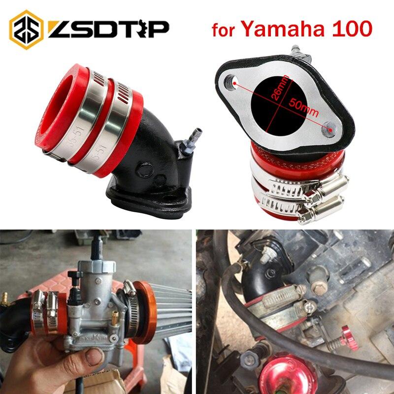 Zsdtrp motocicleta fonte de combustível colector adaptador interface carburador para yamaha 100 jog100 rsz100 pe26/27/30 cvk24/26/30