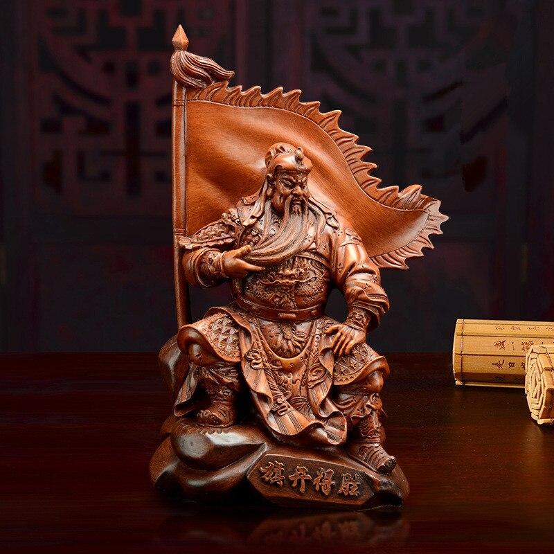 Estatua de decoración de Buda Guan Gong, escultura artística moderna de Dios de la guerra Guan Yu, decoración del hogar, Estatua de la suerte Guan Gong de oficina