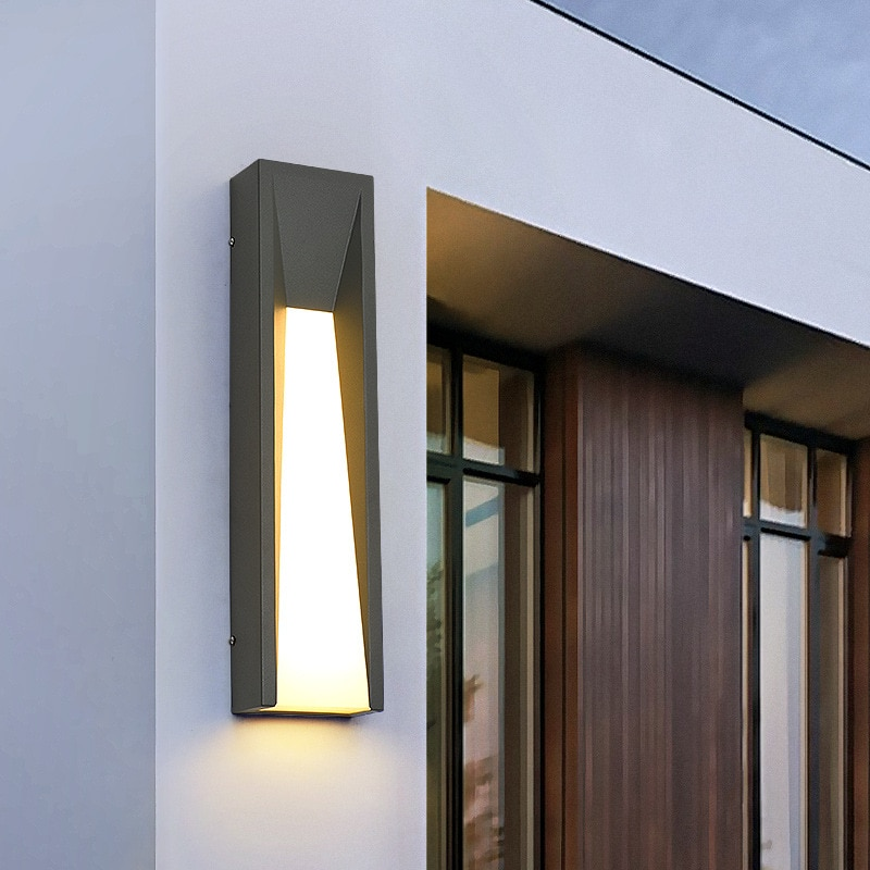 LED Wall Light Outdoor IP65 Waterproof Stainless steel Black Wall Lamps Porch Garden Villa Lamps  110V 220V Sconce Luminaire enlarge